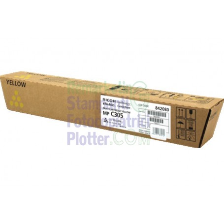 842080 - Original Ricoh Yellow Toner 842080 TypeMPC305-Ricoh Aficio MP C305-841597
