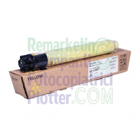 842214 - Original Ricoh Yellow Toner 842214 TypeMPC407-MPC407-842210