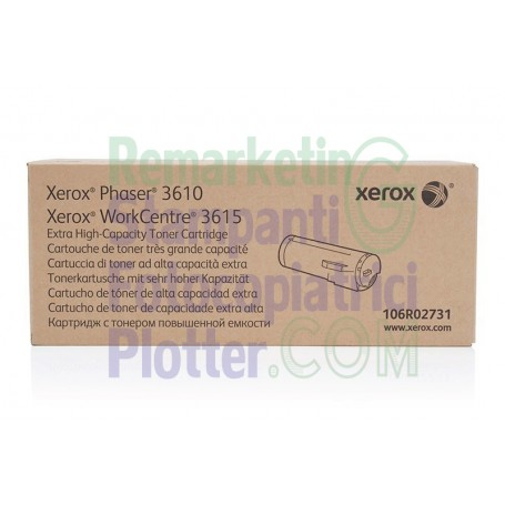 106R02731 - Cartuccia Toner Originale 106R02731 Xerox WorkCentre 3615 Phaser 3610