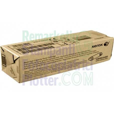 106R03480 - Toner Nero Originale 106R03480 Xerox WorkCentre 6515 - Phaser 6510