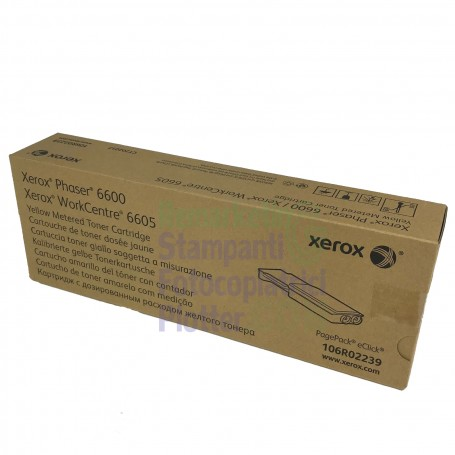 106R02239 - Original Yellow Toner 106R02239 Xerox WorkCentre 6605 - Phaser 6600