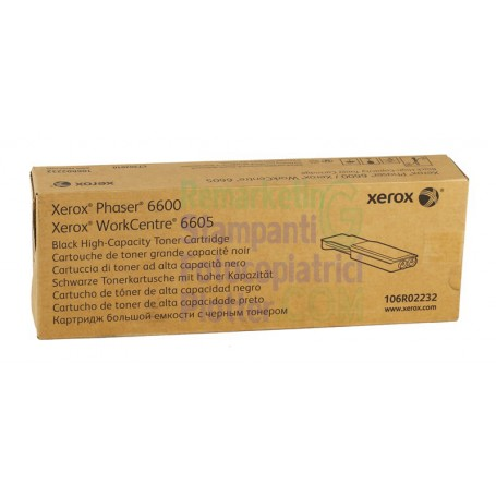 106R02240 - Original Black Toner 106R02240 Xerox WorkCentre 6605 - Phaser 6600