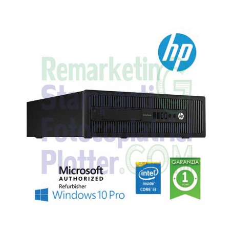 HP 800 G1 SFF INTEL CORE i3-4130 4GB RAM 500 GB HDD - DVD-WIN 10 PRO